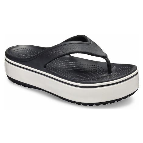flip flops Crocs Crocband Platform Flip - Black/White - women´s