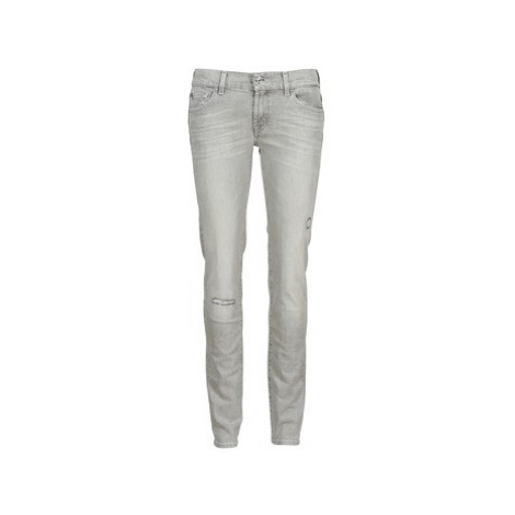 7 for all Mankind ROXANNE DESTROYED women's Skinny Jeans in Grey