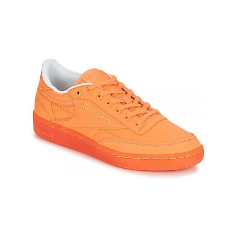 Reebok Classic CLUB C 85 CANVAS women's Shoes (Trainers) in Orange