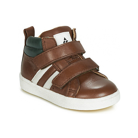 Acebo's 3040-CUERO-J boys's Children's Shoes (High-top Trainers) in Brown