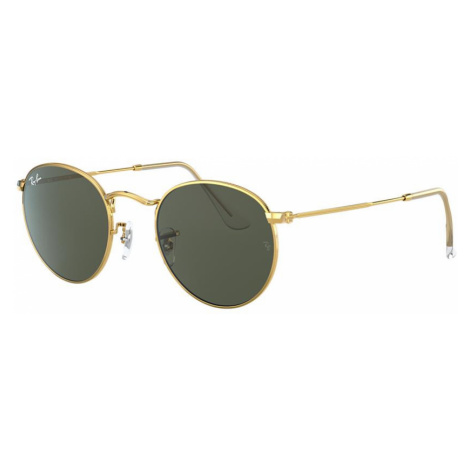 Ray Ban Man RB3447 ROUND METAL LEGEND GOLD - Frame color: Gold, Lens color: Green, Size 53-21/14