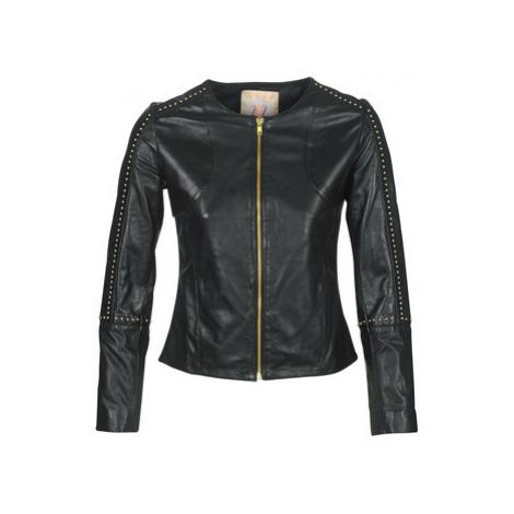 Moony Mood LIRTO women's Leather jacket in Black