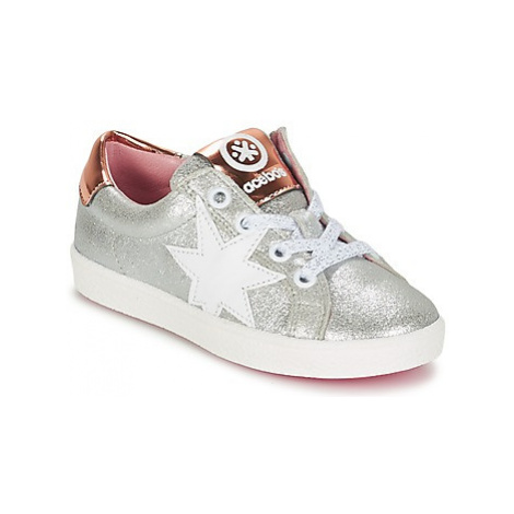 Acebo's SADOU girls's Children's Shoes (Trainers) in Silver
