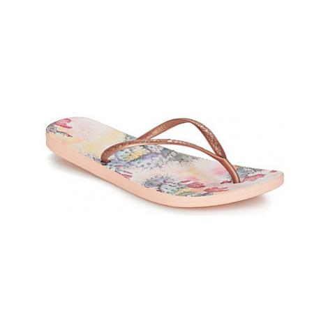 Reef REEF ESCAPE LUX PRINT women's Flip flops / Sandals (Shoes) in Gold