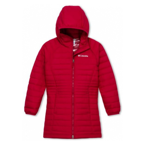 Columbia POWDER LITE GIRLS MID JACKET red - Girls' jacket