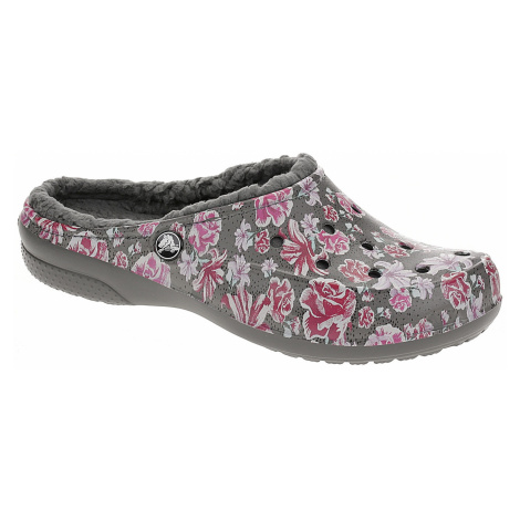 shoes Crocs Freesail Graphic Fuzz Lined Clog - Multi Floral/Slate Gray - women´s
