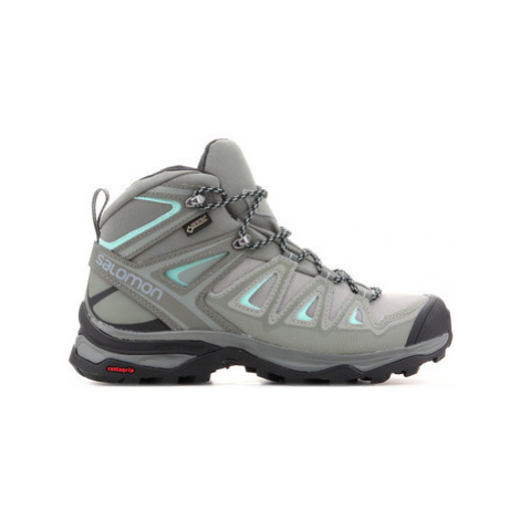 Salomon X Ultra 3 MID GTX W 401346 women's Walking Boots in Green