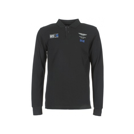 Hackett OPATA men's Polo shirt in Black
