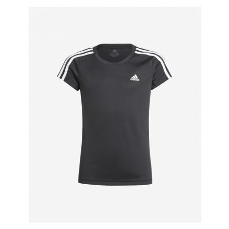 adidas Performance 3 Stripes Kids T-shirt Black