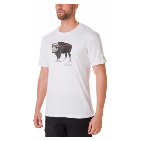 Columbia MUIR PASS SS GRAPHIC TEE white - Men's T-shirt