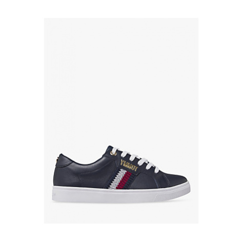 Tommy Hilfiger Leather Lace Up Trainers, Desert Sky