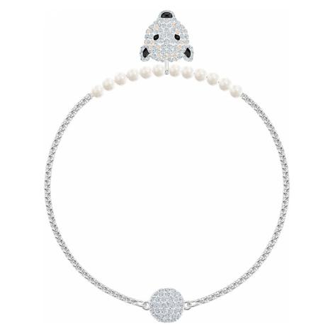 Polar Bestiary Bracelet, White, Rhodium plated Swarovski