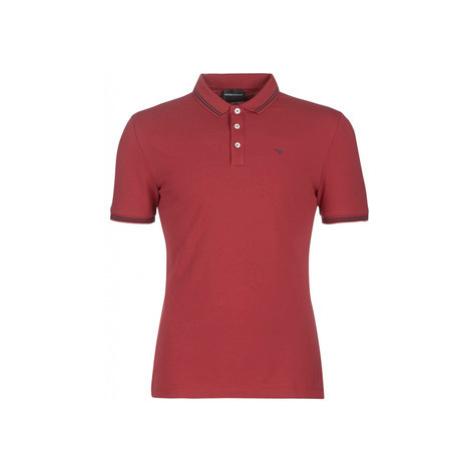 Emporio Armani YOULOTO men's Polo shirt in Red