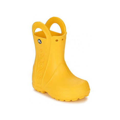 Crocs HANDLE IT RAIN BOOT KIDS girls's Children's Wellington Boots in Yellow