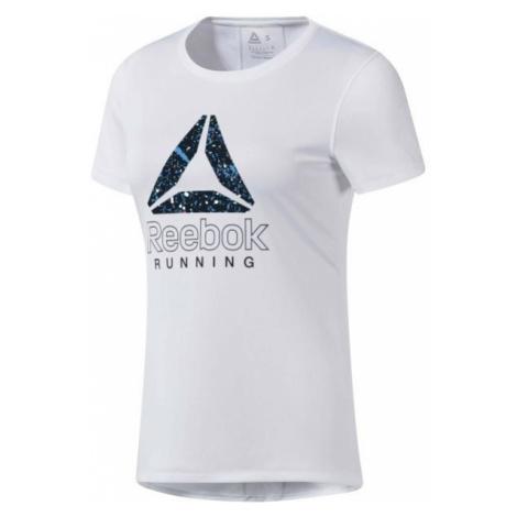 Reebok RUNNING ESSENTIALS GRAPHIC TEE white - Women's running T-shirt