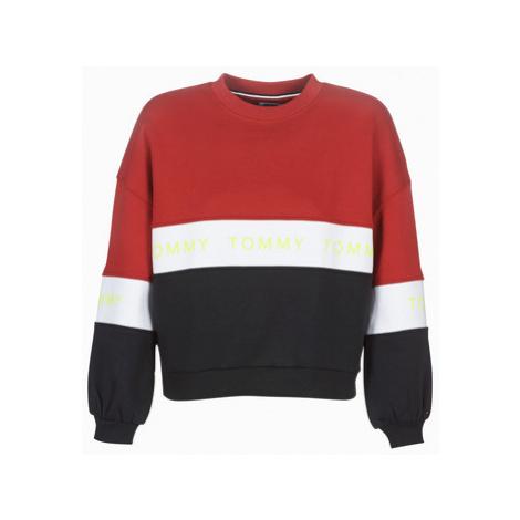 Tommy Jeans TJW COLORBLOCK SWEAT women's Sweatshirt in Red Tommy Hilfiger