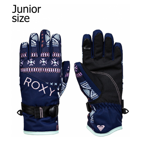 glove Roxy Jetty - BTE4/Medieval Blue Impala Sripes - girl´s