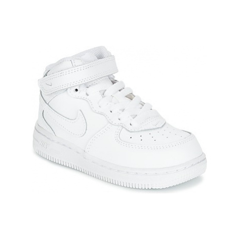 Nike AIR FORCE 1 MID TODDLER girls's Children's Shoes (High-top Trainers) in White