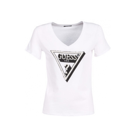 Guess CN PEARL women's T shirt in White