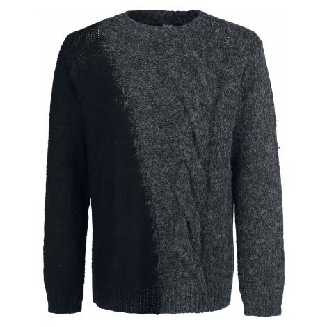 Black Premium by EMP - Welcome To The Universe - Knit sweater - dark grey-black