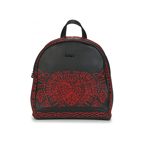 Desigual BEATING HEART VENICE MINI women's Backpack in Black