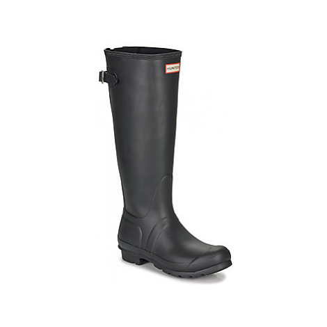 Hunter ORIGINAL BACK ADJUSTABLE women's Wellington Boots in Black
