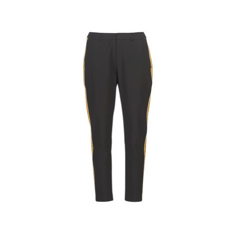 Maison Scotch TAILORED STETCH PANTS WITH CONTRAST SIDE PANEL women's Trousers in Black Scotch & Soda