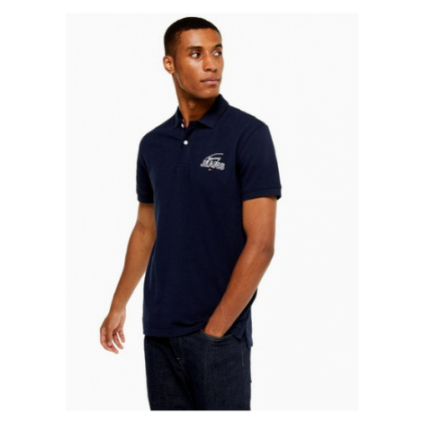 Mens Tommy Jeans Navy Signature Graphic Polo, Navy Tommy Hilfiger
