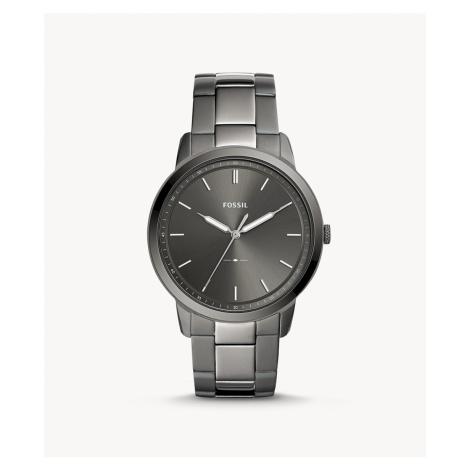 Fossil Men's The Minimalist Three-Hand Smoke Stainless Steel Watch