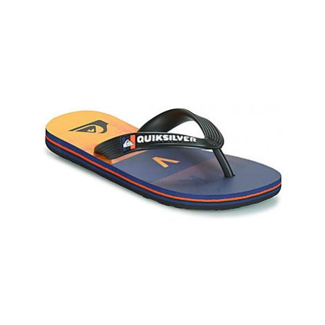Quiksilver MOLOKAI WORDBLOCK VOLLEY YTH B SNDL XKNB girls's Children's Flip flops / Sandals in B