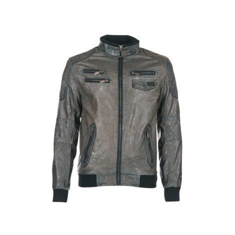 Deeluxe HUPLEY men's Leather jacket in Grey