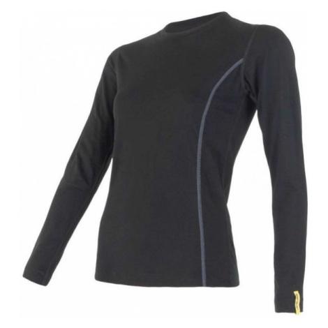 Sensor MERINO ACTIVE black - Women's functional T-shirt