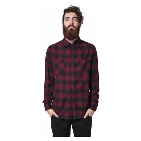 Urban Classics Checked Flanell Shirt blk/burgundy