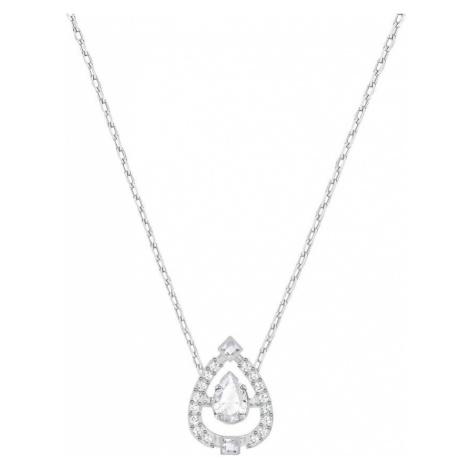 Swarovski Sparkling Dance Pear White Crystal Necklace