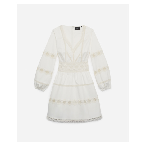 The Kooples - White skater dress with lace detailing - WOMEN