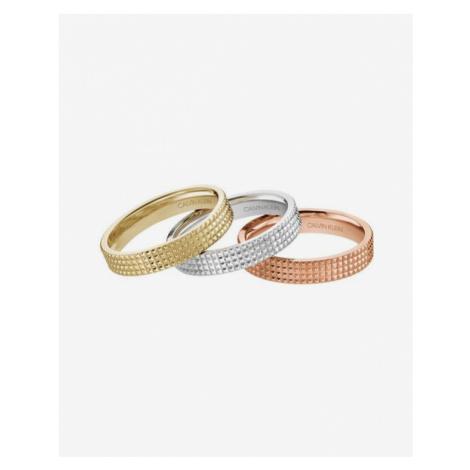 Calvin Klein Rock Ring 3 pcs Pink Gold Silver
