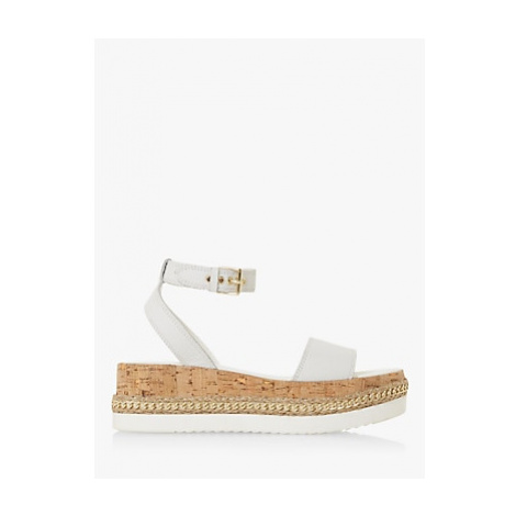 Dune Krest Leather Chain Detail Flatform Sandals