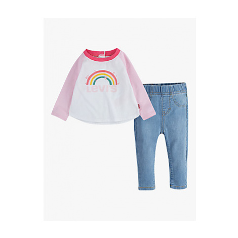 Levi's Baby Top and Jean Set, White/Blue Levi´s