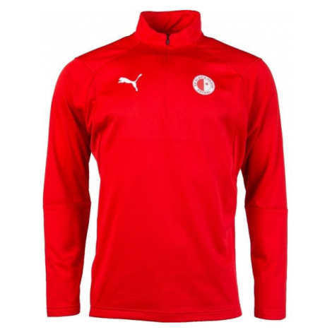 Puma LIGA TRG 1/4 ZIP SLAVIA red - Men's sports sweatshirt