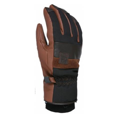 Level JOKER brown - Leather ski gloves