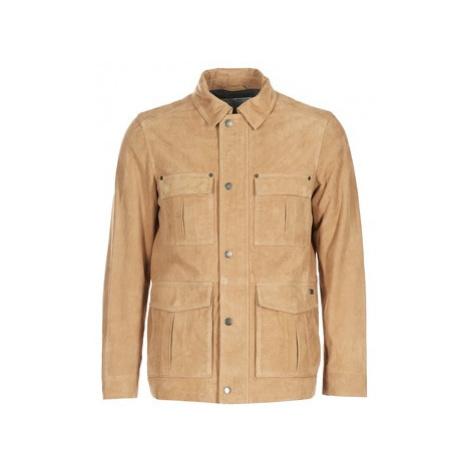 Chevignon BIXEL CUIR men's Leather jacket in Beige