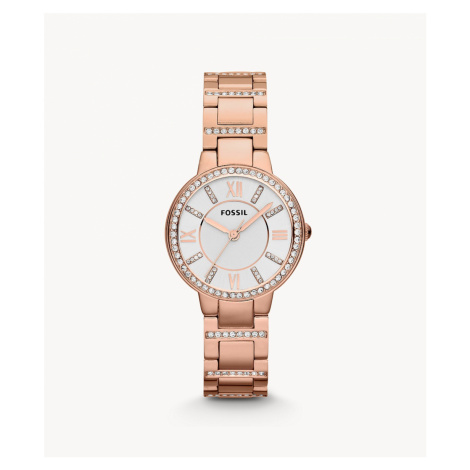 Fossil Women's Virginia Rose-Tone Stainless Steel Watch