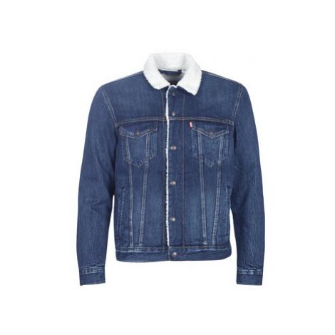 Levis TYPE 3 SHERPA TRUCKER men's Denim jacket in Blue Levi´s