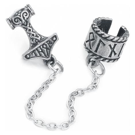 Alchemy Gothic Thor Donner Earcuff Ear Clip silver coloured