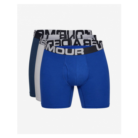 "Under Armour Charged Cotton® 6"" Boxers 3 ks Blue Grey"