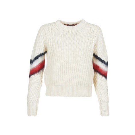 Tommy Hilfiger AMALIE CABLE C-NK SWTR women's Sweater in White