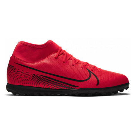 Nike MERCURIAL SUPERFLY 7 CLUB TF red - Men's turf football boots