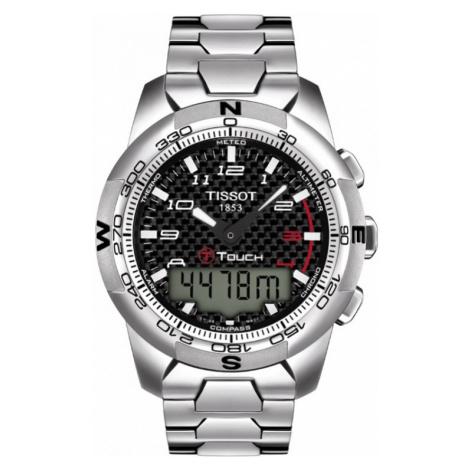 Mens Tissot T-Touch II Titanium Alarm Chronograph Watch T0474204420700