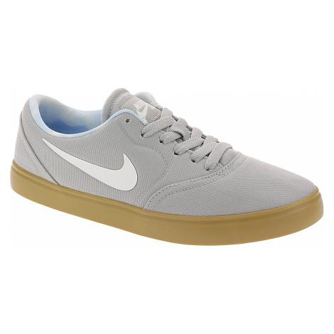 shoes Nike SB Check Premium Print GS - Wolf Gray/White/Gum Light Brown - unisex junior