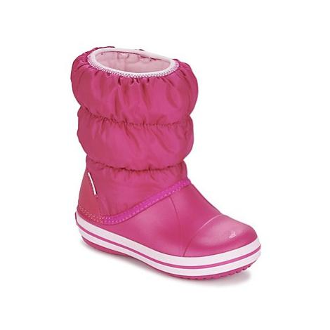 Crocs WINTER PUFF BOOT KIDS girls's Children's Snow boots in Pink